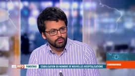 RTL INFO 19H : Coronavirus en Belgique: l'analyse d'Emmanuel André