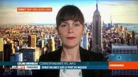 RTL INFO 19H : Coronavirus: les New Yorkais face au confinement et au port du masque
