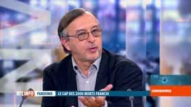 RTL INFO 19H : Coronavirus en Belgique: analyse des chiffres par Yves Van Laethem