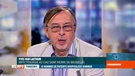 RTL INFO 19H : Coronavirus en Belgique: l'analyse d'Yves Van Laethem