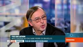 RTL INFO 19H : Coronavirus en Belgique: Yves Van Laethem commente la situation