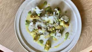 Gnocchi de chou-fleur et rochers coco
