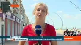 RTL INFO 13H : Coronavirus en Belgique: en direct de La Panne avec Claire Sadzot
