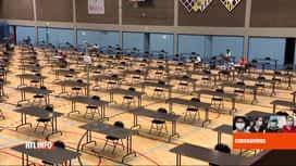 RTL INFO 19H : Coronavirus en Belgique: une salle d'athlétisme devient salle d'exa...