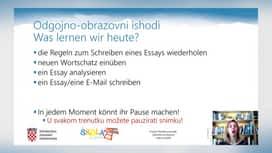 Pripreme za maturu : 23.05.: NJE - En essay schreiben, Hörstrategien, Hörstrategien – Aufgabe 1, MAT - Zaokruživanje brojeva, zapisa broja, Pojednostavljenje izraza, Postoci, Omjeri