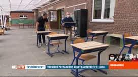 RTL INFO 19H : Déconfinement: les écoles s'organisent pour le retour des élèves