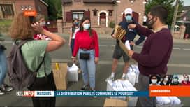 RTL INFO 13H : Déconfinement: Wavre distribue des masques à ses habitants