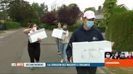 RTL INFO 19H : Déconfinement: Wavre distribue des masques à ses habitants