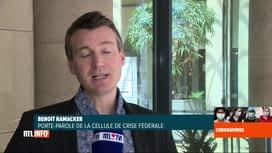 RTL INFO 13H : Coronavirus en Belgique: les indicateurs sont à la baisse et resten...