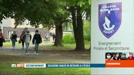 RTL INFO 19H : Coronavirus en Belgique: deuxième vague de rentrée des classes