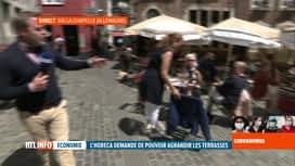 RTL INFO 13H : Coronavirus: les terrasses, un peu aménagées, rouvertes en Allemagne