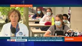 RTL INFO 13H : Coronavirus en Belgique: commentaires du professeur Frédérique Jacobs