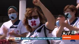 RTL INFO 19H : Coronavirus en Belgique: action du personnel soignant à Charleroi