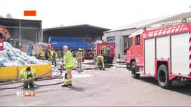 RTL INFO 13H : Incendie dans une usine de transformation de déchets à Vilvorde