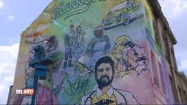 RTL INFO 19H : Coronavirus: une fresque en hommage au personnel soignant