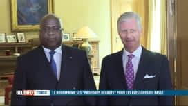 """RTL INFO 13H : Le roi Philippe exprime au Congo ses """"profonds regrets"""""""