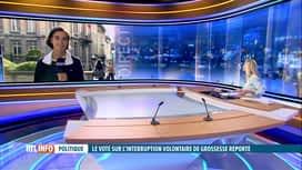 RTL INFO 19H : Dépénalisation de l'avortement : le vote à nouveau reporté
