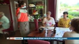 RTL INFO 19H : Les professionnels du tourisme espèrent la relance du secteur, cet été