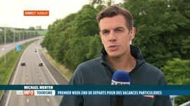 RTL INFO 19H : Départs en vacances: l'affluence est-elle attendue sur les routes ?