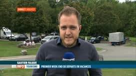 RTL INFO 13H : Les vacanciers sont nombreux sur les aires de repos malgré le coron...