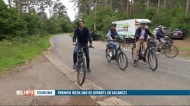 RTL INFO 13H : Tourisme: Elio Di Rupo et Valérie De Bue visitent Rochefort à vélo