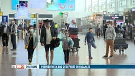 RTL INFO 13H : Départs en vacances: le calme règne à Brussels Airport