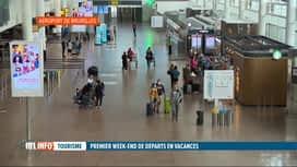 RTL INFO 19H : Départs en vacances: Brussels Airport paraît encore bien vide