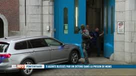 RTL INFO 19H : Des gardiens de la prison de Mons sérieusement blessés par des détenus