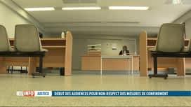 RTL INFO 13H : Coronavirus: début des audiences liés au non-respect du confinement