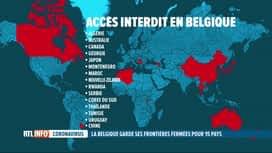 """RTL INFO 19H : Coronavirus: la Belgique reste fermée à 15 pays considérés comme """"s..."""