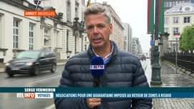RTL INFO 13H : Coronavirus: quarantaine imposée aux Belges de retour de zones à ri...