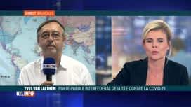 RTL INFO 13H : Coronavirus: l'avis d'Yves Van Laethem sur une transmission aérienne