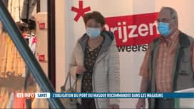 RTL INFO 13H : Le port du masque devrait-il être obligatoire dans les magasins ?