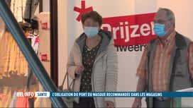 RTL INFO 19H : Le port du masque devrait-il être obligatoire dans les magasins ?