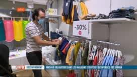 RTL INFO 13H : Coronavirus: les sanctions prévues pour le non respect du port du m...