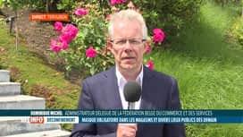 RTL INFO 13H : Coronavirus: réaction de Dominique Michel au port du masque obligat...