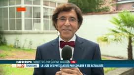 RTL INFO 19H : Vacances: réaction d'Elio Di Rupo à propos des codes couleurs et li...