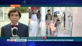 RTL INFO 19H : Masque obligatoire: réaction d'Elio Di Rupo à propos de cette décision