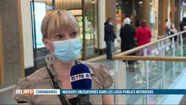 RTL INFO 13H : Le port du masque est obligatoire depuis ce matin dans une série de...