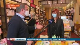 RTL INFO 13H : Port du masque obligatoire: Julien Modave est en direct du centre d...