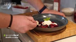 #jecuisinelocal : Glace au lait cru, fruits rouges épicés