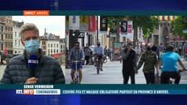 RTL INFO 13H : Coronavirus: Serge Vermeiren est en direct d'Anvers, sous couvre-feu