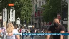 RTL INFO 13H : Coronavirus: couvre-feu et port du masque obligatoire dans la...
