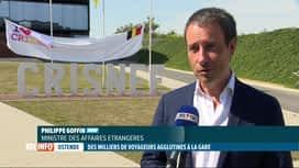 RTL INFO 13H : La foule présente hier à la gare d'Ostende a choqué le ministre Goffin