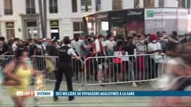 RTL INFO 13H : Chaos hier soir à la gare d'Ostende suite à un incident technique
