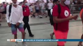 RTL INFO 19H : Des milliers de touristes bloqués hier à la gare SNCB d'Ostende