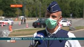RTL INFO 13H : Coronavirus: la police contrôle les Belges de retour de France