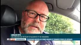 RTL INFO 13H : Coronavirus: casse-tête pour certains Belges de retour de vacances