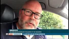 RTL INFO 19H : Coronavirus: casse-tête pour certains Belges de retour de vacances