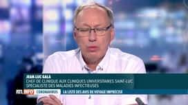 RTL INFO 19H : Coronavirus et vacances: l'expertise de Jean-Luc Gala, invité du...